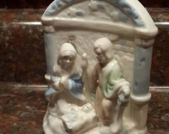 Miniature ceramic Nativity scene