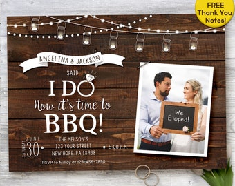 We said I do BBQ, We said I do invitation, I DO BBQ, Elopement invitation, printable invitation