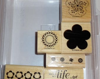 A Beautiful Thing Rubber Stamp Set of 6 Stampin Up Mounted You Make My Life
