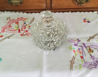 Vintage embridered tray or dressing table cloth