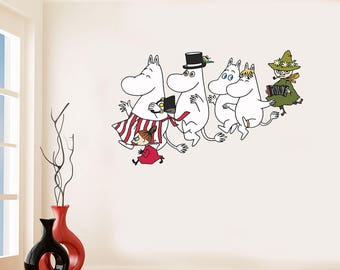 Moomin Inspired Wall Art Sicker Vinyl Decal Moomins