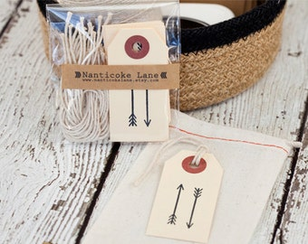 ON SALE...Set of 10 arrow tags, paper goods, cardstock tags, arrows, gift tags, paper goods