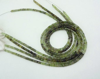 14-inch Natural Green Tourmaline shaded faceted beads size 3.5mm GW2550