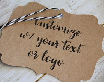 IHREN TEXT hier, Halterung Tags, individuelles Logo, Custom gedruckt Tags, Vermarktung, Branding