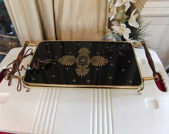 Vintage Black and gold tray by LaVada