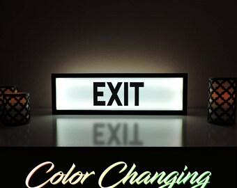 Exit Sign, Exit Light, Light Up Sign, Business Sign, Exit, Light Up Art, Exit Light Up Sign, Store Sign, Restaurant Sign, Shop Sign
