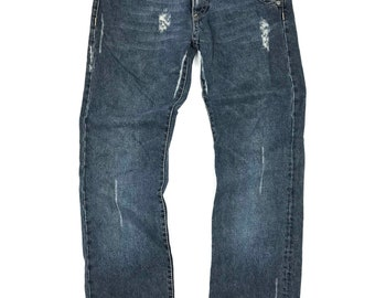 Rare! Neil Barret Ripped and Distressed Denim Jean Size 34