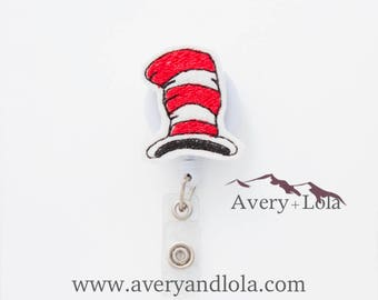 Seussical Hat Badge Reel, Hat Badge Reel, Literary Badge Reel, ID Badge Holder, Teacher Gift, Nurse Gift
