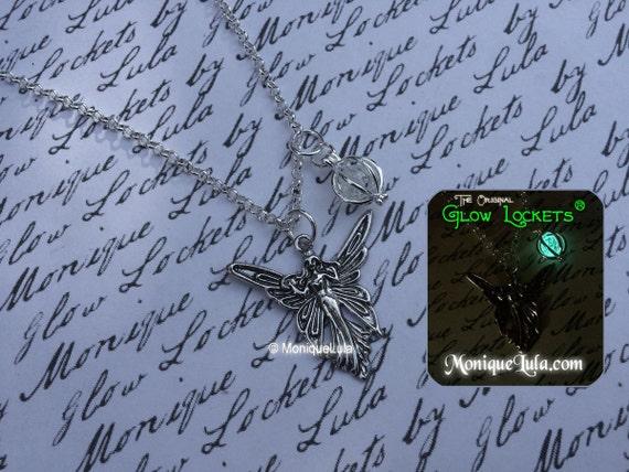 Fairy Wisp Glow Locket Orb Pendant Necklace Silver