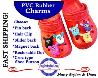 PVC Charms, BiG EYEs & EARs * 20% OFF Any 4 PvC Charms+ShipFREE *Choose back-Button, Pin, Slider, Hair Clip, Reclosable Dot, Magnet