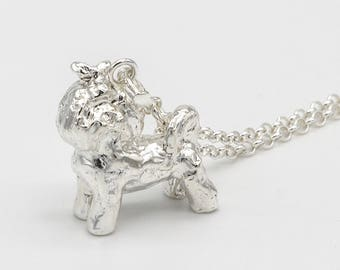 Shih Tzu 3D Sterling Silver Necklace