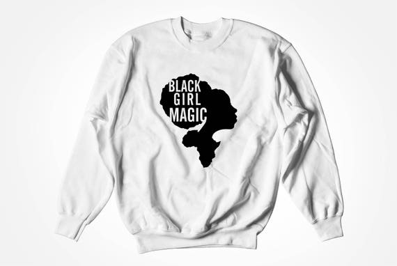 Black Girl Magic Hoodie - Black Girls Rock, Black Hair, Black Girl Magic, Melanin Shirt, Black Women Hoodie by Raw Clothing