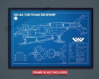 Alien Dropship Schematic Print