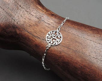 Tree of Life Bracelet - Sterling Silver Bracelet, tree bracelet, tree of life, charm, tree jewelry, bracelets, gift for mom, gift for women