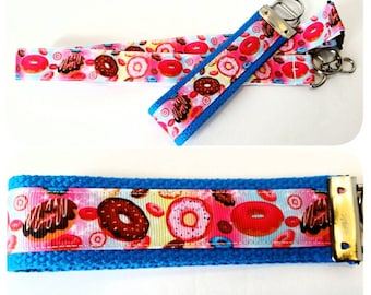 Doughnuts - badge holder, lanyard or keychain, Gift for Her