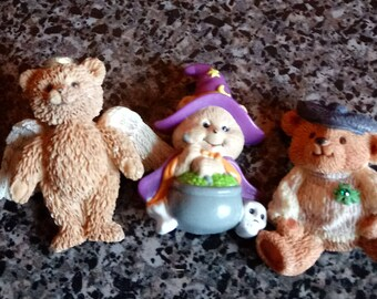 Lot of 3 Vintage Teddy Bear Pins