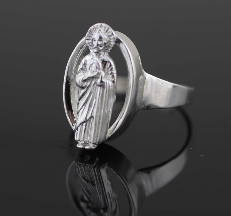 Saint Jude Anillo Plata De Ley 925 San Judas Sterling Silver # Muebles San Judas