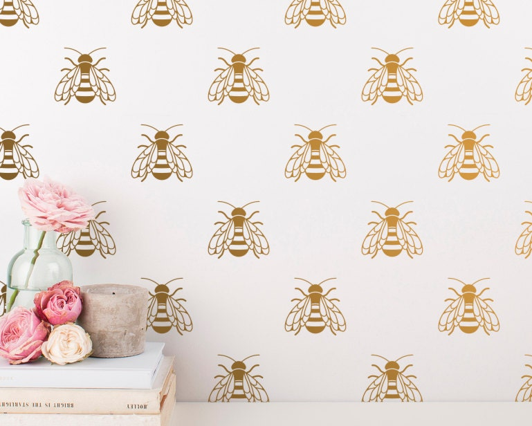 Bee Wall Decals Honey Decal Set Vinyl Gift