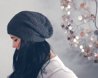 Baby-Adult sizes - Hand Crocheted Slouch Beanie - PICK YOUR COLOR