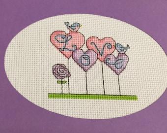 Love on stalks card
