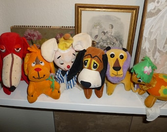 Group Of Vintage Dream Pets And One Treasure Pet / Lot Of Six 1960's
