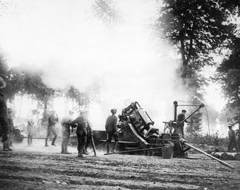 Poster, Many Sizes Available; 9.2 Inch Howitzer Firing France Wwi