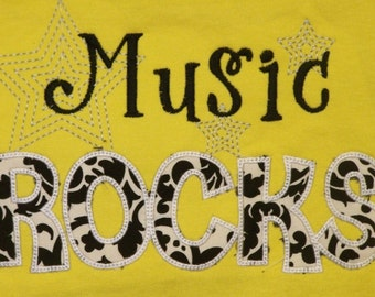 Music Rocks shirt teacher shirt student shirt