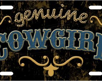 Genuine Cowgirl License Plate Tag