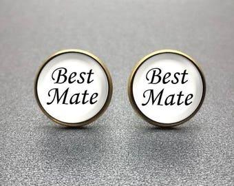 Best Mate Cufflinks, personalized cufflinks