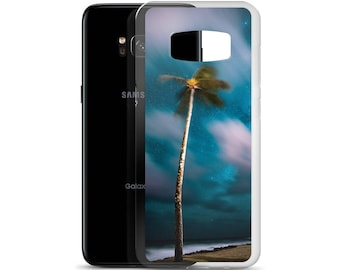 Tropical Blur Palm Tree Paradise Samsung Case Tropics Photo Edit Palm Tree