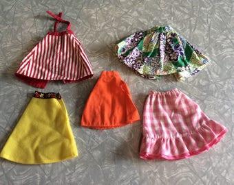 Vintage lot of 5 Barbie doll Skirts