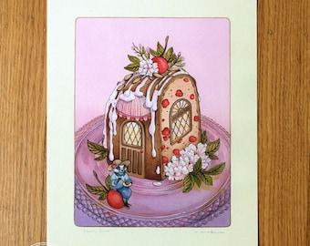 Cherry Cake House - Fine Art Print by Nicole Gustafsson