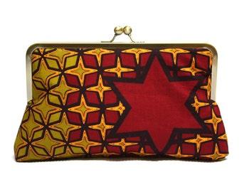 Clutch Bag, Clutch Red, Red Star Supesnap Kupplung, Ankara Kupplung African Wachs drucken Handtasche, Funky Clutch-Tasche, Geldbörse, Anweisung Tasche