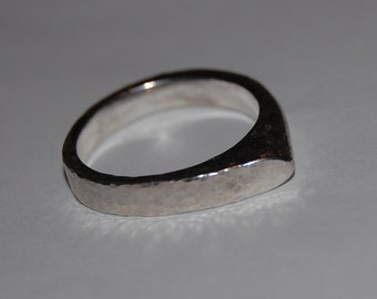 Hammered Stackable Sterling Silver Modern Point Ring