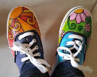 MADE TO ORDER Custom Painted Shoes