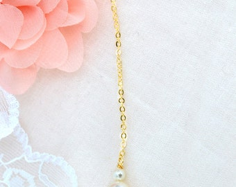 Back Drop Necklace, Back Drop Bridal Necklace, Back Drop Wedding Necklace, Removable necklace back