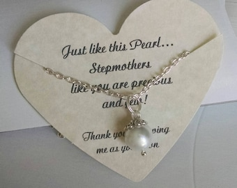 Step Mother of the Bride, Stepmother Wedding Gift, Gift For Stepmother, Gift For Mother In Law, Comes with Card