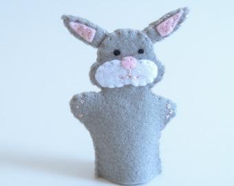 Bunny finger puppet - finger puppets, easter bunny, bunny plush, bunny rabbit, bunny toy, bunny nursery, nursery decor -