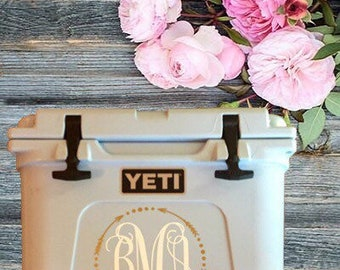 Yeti Cooler Decal | Yeti Monogram Sticker | Yeti Sticker | Yeti Cooler | Cooler Sticker | Cooler Decal