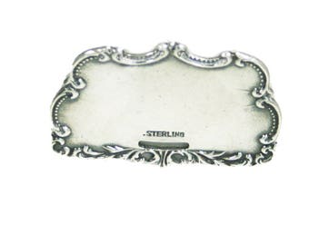 Antique Repousse Sterling Silver Luggage Tag