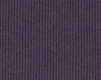 BLACKBERRY 2x1 RIBBING, Cotton Lycra blend, Fat Eighth, 9 x 21 inches