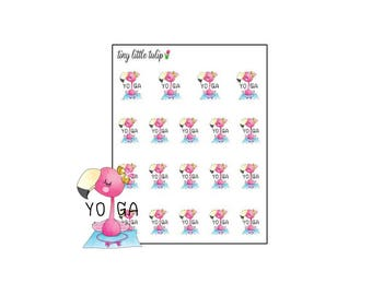 Planner Stickers Flamingo Yoga