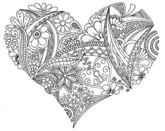 Colouring Sheet - Locket Heart