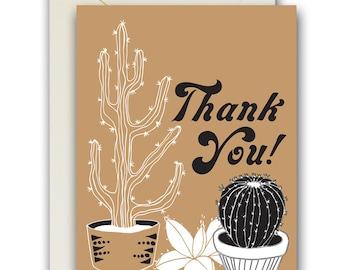 Cacti Thank You card