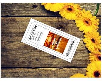 Night of Carnival Ticket - School Dance/Prom Invitation/Homecoming/Card Customizable - Printable Digital Download