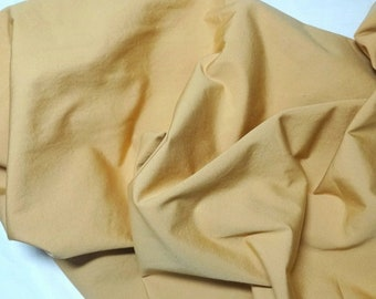 Heavy Cotton Fabric in Gold, 1 & 7/8 Yard Cut, 56 Inches Wide, Home Decorating, Curtains, Pillows, Tablecloths, Napkins, Linens, Quilt Backs