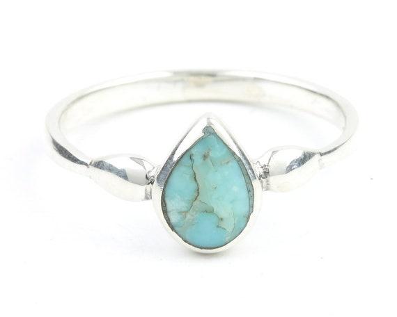 Desert Rain Ring, Sterling Silver Square Teardrop Ring, Minimal, Modern, Boho, Bohemian, Gypsy, Festival Jewelry, Gemstone, Southwestern