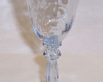 Cambridge Glass Moonlight Blue CAPRICE 5 3/4 Inch High 3 Ounce Liquor Cocktail