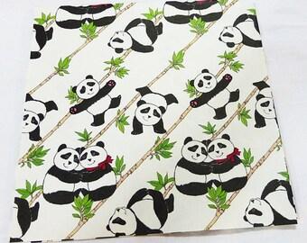 Vintage sunshine pandas sheet gift wrap paper
