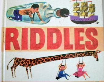 Jokes Riddles Funny Stories, Oscar Weigle, Vintage 1950s Children's Book, 1959